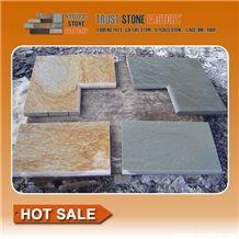 Desert Quartzite Doughboy Pools, Beige Quartzite Pavers, Grey Quartzite Travertine Pavers