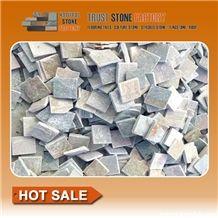 Himalaya Quartzite Stone Flooring Tiles, Beige Quartzite Paver Stone Tiles, White Quartzite Flooring Tiles