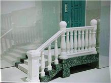 Pure White Marble Balustrade & Railings, White Marble Handrail