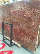 Translucent Golden Clouds Vein Onyx Slabs & Tiles, China Yellow Onyx