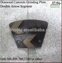Jdk Double Arrow Segments Diamond Concrete Grinding Plate