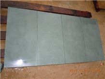 China Natural Honed Green Sandstone Slabs & Tiles