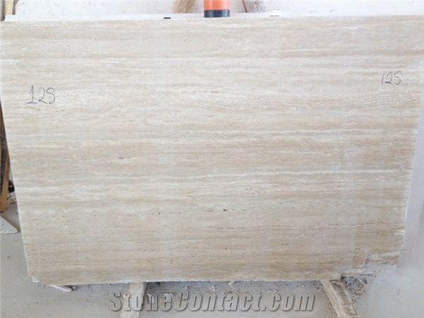 Factory Supply White Travertine Stone