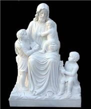 Hot Sell White Marble Stone Carving and Sculpture on Sale