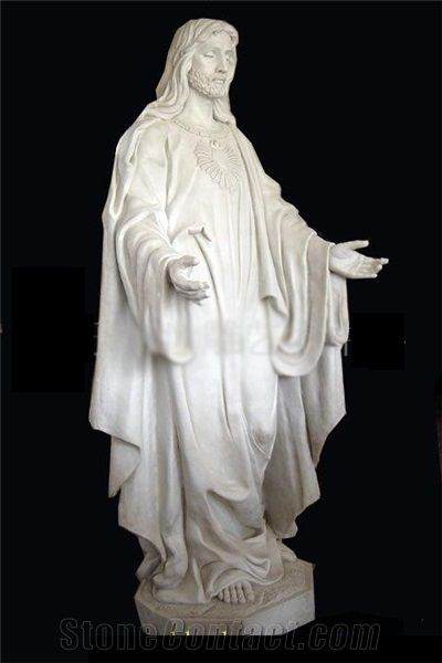 New Carving Stone Amitabha Buddha Marble Human Sculpture