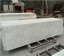 Polished Oriental White Marble Kitchen Countertop