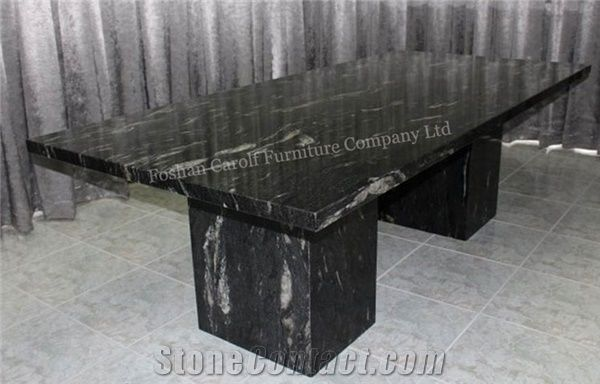 10 Seater Natural Black Marble Dining Table From China Stonecontact Com
