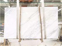 Volakas White Marble Tiles & Slabs, Volakas Marble, Greece White Marble