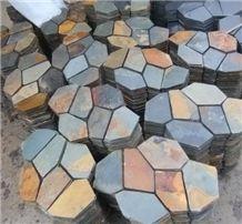 Rusty Slate Tile Irregular Flagstone