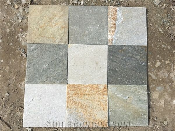 Good Colors P014 Natural Slate Floor Tiles China Slate Patio Tile