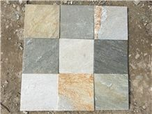 Good Colors P014 Natural Slate Floor Tiles, China Slate Patio Tile, P014 Yellow Slate