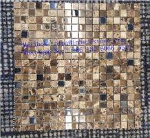 Nature Stone Coffee Color Polished Mosaic Tile