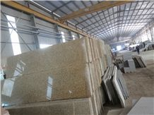 Granite Stone Slabs & Tiles, Viet Nam Yellow Binh Dinh Granite Polished Floor Tiles, Wall Tiles