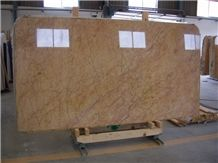 Crema Valencia Marble Tiles & Slabs 02 - Slabs, Yellow Polished Marble Floor Tiles, Wall Tiles