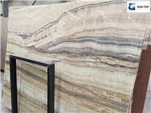 Smok Wave Onyx/Grey Smoke Jade Big Slabs & Tiles & Gangsaw Slab & Strips (Small Slabs) & Customized & Wall/Floor Covering