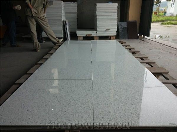 Home Quartz Stone Chips Powder Vietnam Sparkle Tiles White Slabs Polished Engineered Floor Terrazzo