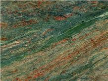 Harlequin Granite Slabs & Tiles, Green Polished Granite Floor Tiles, Wall Tiles Brazil