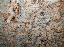 Harmony Gold Granite Slabs & Tiles, Yellow Polished Granite Floor Tiles, Wall Tiles