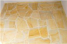 Szydlowiecki Yellow Sandstone Flagstone Floor and Walling Tiles