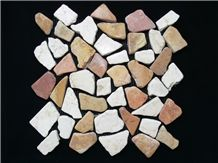 Big Chips Stone on Mosaic Tiles