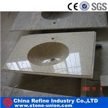 Beige Polished Granite Bath Tops ,Countertop Cut to Size as Your Demand,China Wholesale Bathroom Vanities Top,Granite Bathroom Sink Countertops Vanity Tops