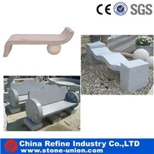Granite Benches with Wheel , Landscaping Granite Stone Chairs