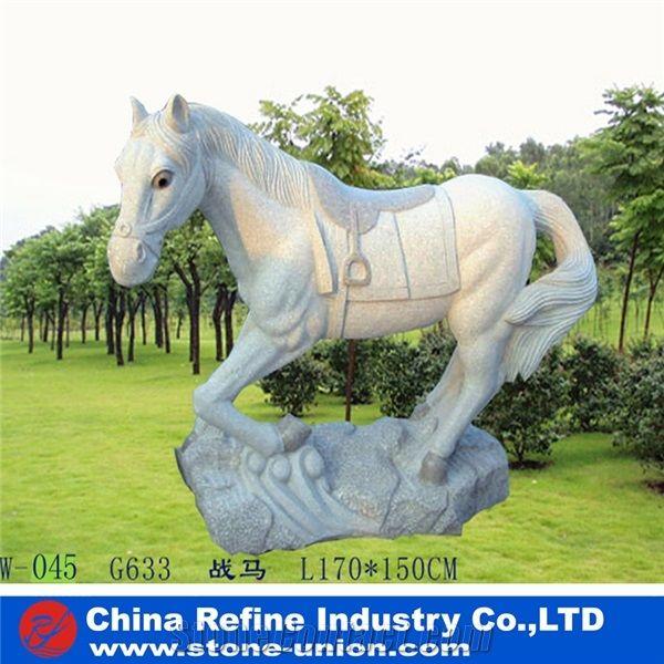 Horse Animal Marble Statue Garden Horse Sculpture Head