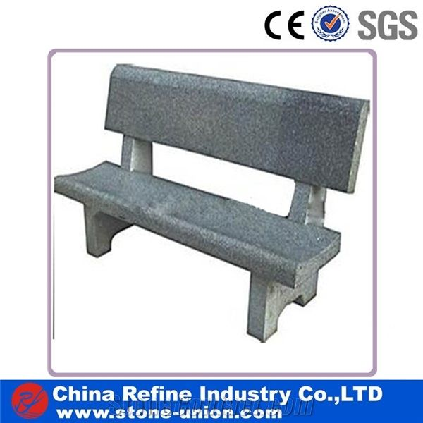 Outdoor Granite Benches Grey Color With Backrest Cheap Stone Benches Street Furniture Patio Bench From China Stonecontact Com