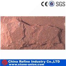 Wholesale Cheap Sorghum Red Quartzite Mushroom Stone Tile for Wall Cladding,Mushroom Face Cladding,Quartzite Mushroom Stone for Wall Cladding Quartzite Mushroom Stone for Wall Pannel