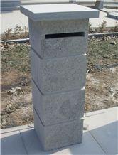 China Blue Limestone Mailbox, Letter Box, Chinese Post Box,Leiyan
