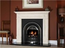 Fireplace Hearth White Marble Slab Fireplace