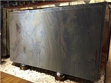 Azul Macaubas Blue Quartzite Polished Slabs & Tiles, Brazil Luxury Blue Quartzite Slabs, Cheap Blue Quartzite Flag Slabs