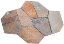 Rusty Slate Random Flagstones, Irregular Rustic Slate Crazy Paving Stone, Flagstone Pavers for Walkway, Road Project