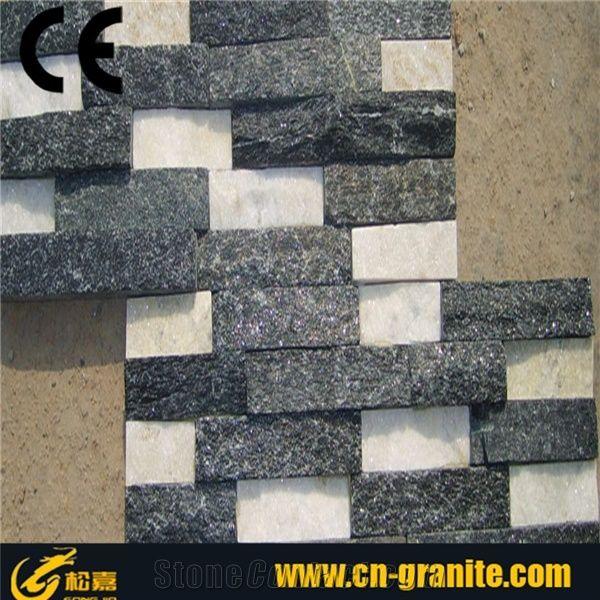 Black Quartzite Wall Stone Cladding Designs,Natural Stone