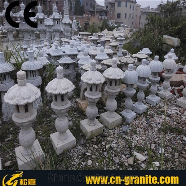 Grey Granite Stone Lantern Sale Stone Japanese Lanterns