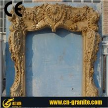 Hubei Beige Travertine Fireplace Insert Design Ideas,Fireplace Decorating.