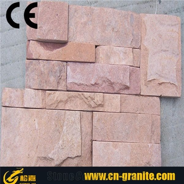 Red Slate Exterior Wall Stone Tile Textured Stone Wall Tile