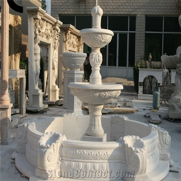 White Marble Water Fountains Outdoor Wholesale Indoor Water Fountains Large Outdoor Water Fountains Fountains For Sale Lowes Indoor Water Fountains Chinese Water Fountains From China Stonecontact Com