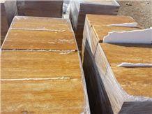 Yellow Travertine Tiles & Slabs, Gold Travertine Floor Tiles, Flooring Tiles, Wall Covering Tiles