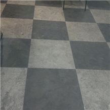 Asian China Factory Supplier Natural Stone Shandong Blue Limestone Floor Pattern Honed, Flamed, Acid, Slabs Tiles Wall Cladding