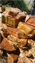South Africa Yellow Tiger Eye Onyx Stone Rough Block