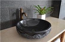 Absolute Shanxi Black Granite Vanity Sinks & Basins