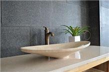 Beige Travertine Bathroom Wash Basins & Sinks