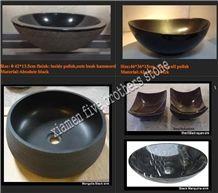 Black Granite Stone Kitchen Sinks, Wash Basins & Sinks for Bathroom