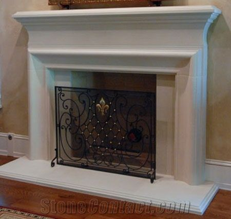 Cast Stone Fireplace Mantel Artificial Marble Fireplace