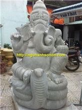 Vietnam Grey Sandstone Ganesha Statues