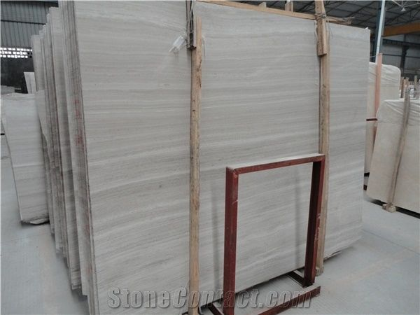 Por High Quality Oak White Limestone Slabs