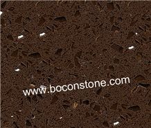 Artificial Quartz Stone-Crystal Dark Brown Quartz