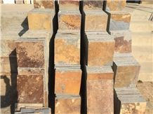 Rusty Brown Slate Tile Paving Stone for Garden and Floor Standard Size Good Price