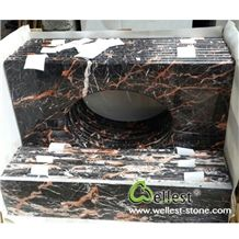 M502 Cuckoo Red Marble Vanity Top for Bath Design